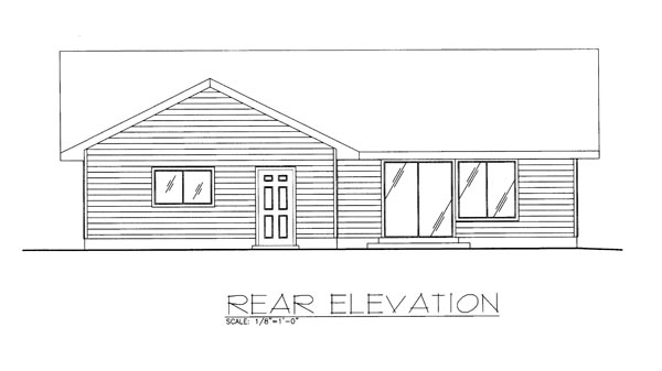 Ranch Traditional House Plan 85274 Rear Elevation