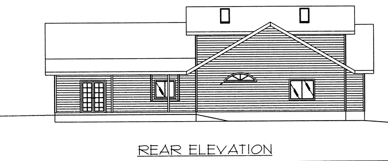 Contemporary European House Plan 85275 Rear Elevation