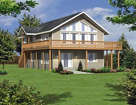House Plan 85276   Colonial Contemporary Traditional Style Plan with 1827 Sq Ft, 3 Bedrooms, 2 Bathrooms, 2 Car Garage Elevation
