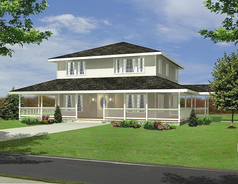 Country Farmhouse Southern House Plan 85278 Elevation