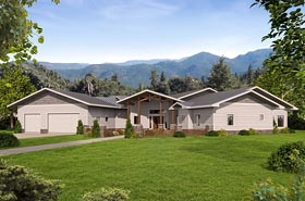 Traditional House Plan 85279 with 4 Beds, 4 Baths Elevation