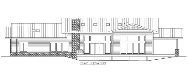 Traditional House Plan 85279 Rear Elevation