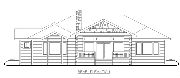 Contemporary , Craftsman , European House Plan 85280 with 2 Beds, 3 Baths, 3 Car Garage Rear Elevation