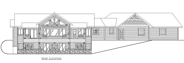 Country Craftsman Ranch House Plan 85281 Rear Elevation