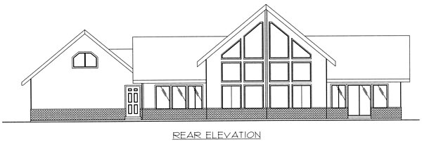 Country, Traditional House Plan 85283 with 2 Beds, 2 Baths, 2 Car Garage Rear Elevation