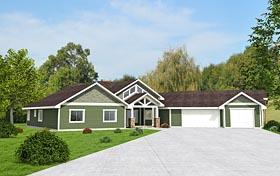 Contemporary Craftsman House Plan 85285 Elevation