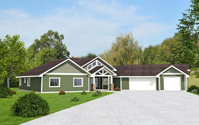 Contemporary Craftsman House Plan 85285 Elevation