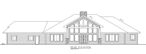 Contemporary Craftsman House Plan 85285 Rear Elevation