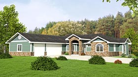 European , Craftsman House Plan 85286 with 2 Beds, 3 Baths, 3 Car Garage Elevation