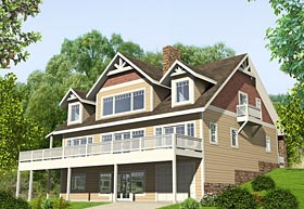Cape Cod , Craftsman , Traditional House Plan 85287 with 4 Beds, 5 Baths, 1 Car Garage Elevation