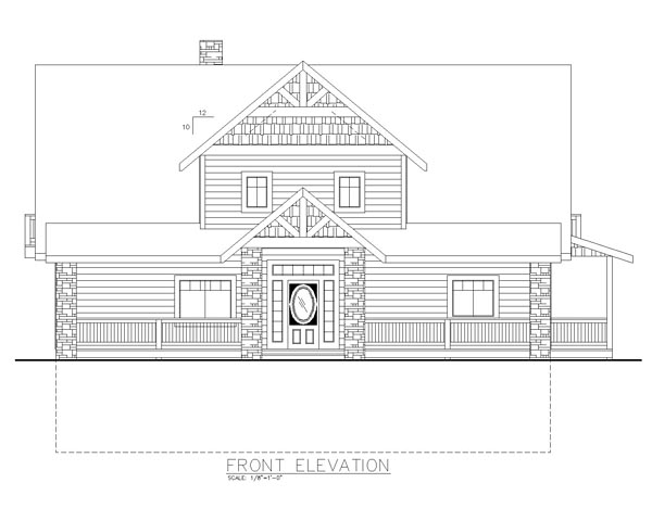 Cape Cod Craftsman Traditional House Plan 85287 Rear Elevation