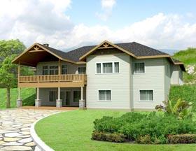 Craftsman House Plan 85300 with 4 Beds, 4 Baths, 3 Car Garage Elevation
