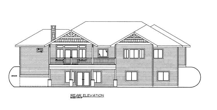 Craftsman House Plan 85300 Rear Elevation