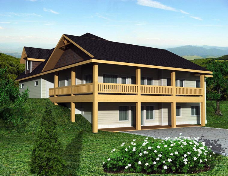 House Plan 85301 Elevation