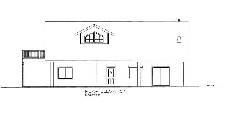 Contemporary House Plan 85302 Rear Elevation