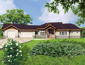 House Plan 85303 with 4 Beds, 5 Baths, 3 Car Garage Elevation