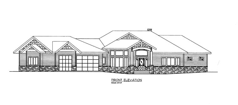 House Plan 85303 with 4 Beds, 5 Baths, 3 Car Garage Picture 1