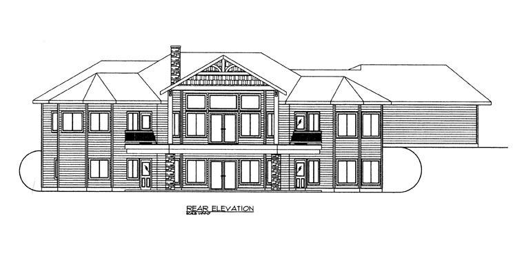 House Plan 85303 Rear Elevation
