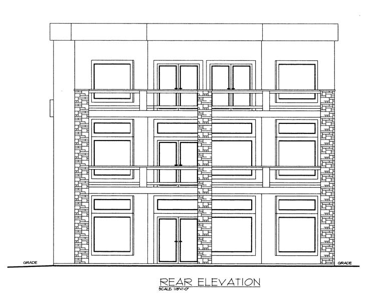 Contemporary House Plan 85304 Rear Elevation