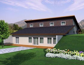 House Plan 85305   Style Plan with 2304 Sq Ft, 4 Bedrooms, 3 Bathrooms Elevation