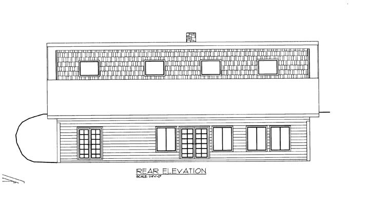 House Plan 85305 Rear Elevation