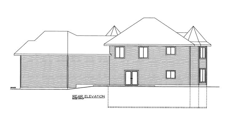 House Plan 85306 Rear Elevation