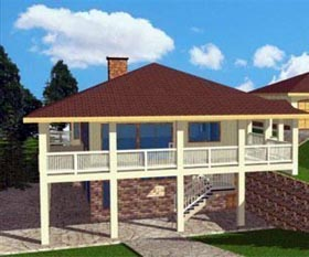 House Plan 85310 with 3 Beds, 4 Baths Elevation
