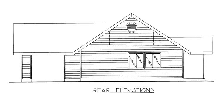 House Plan 85312 Rear Elevation