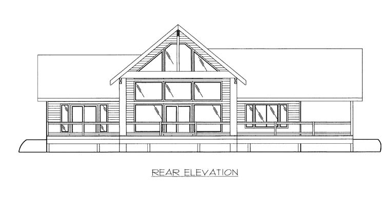 Coastal House Plan 85314 Rear Elevation