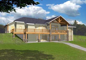Ranch House Plan 85315 with 4 Beds, 4 Baths, 3 Car Garage Elevation