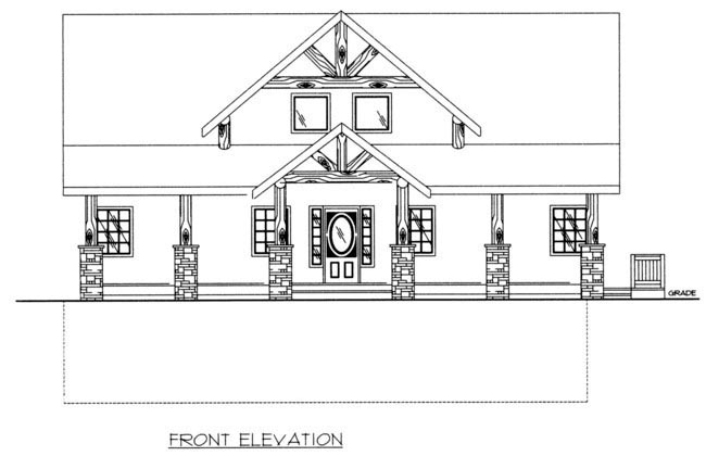 Coastal House Plan 85316 with 3 Beds, 3 Baths Picture 1