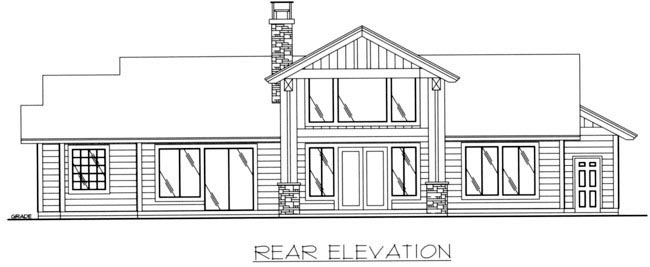 Craftsman House Plan 85317 Rear Elevation