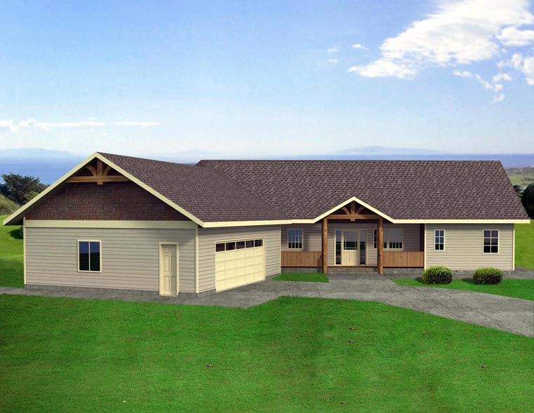 House Plan 85318 with 3 Beds, 3 Baths, 2 Car Garage Elevation