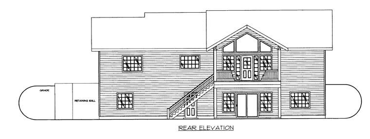 House Plan 85319 Rear Elevation