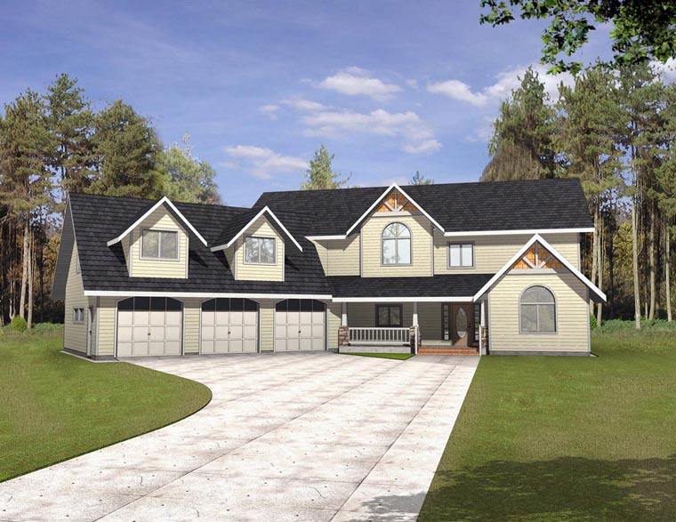 Country House Plan 85320 with 4 Beds, 4 Baths, 3 Car Garage Elevation