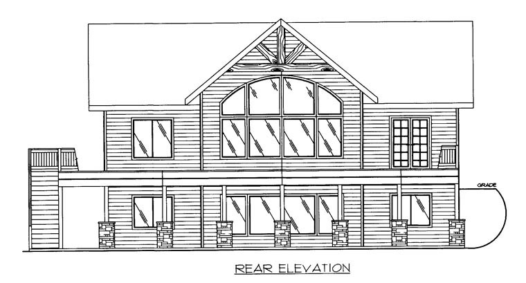 Craftsman House Plan 85322 Rear Elevation