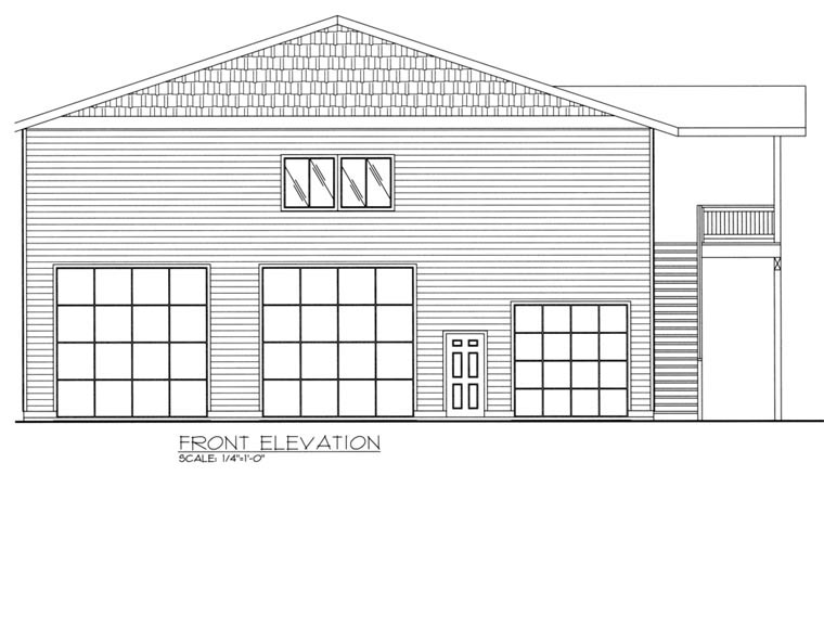 3 Car Garage Apartment Plan 85324 with 3 Beds, 3 Baths, RV Storage Picture 1