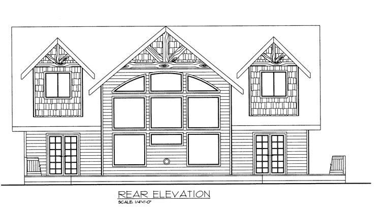House Plan 85325 Rear Elevation