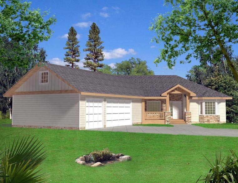 Craftsman House Plan 85326 with 3 Beds, 3 Baths, 3 Car Garage Elevation