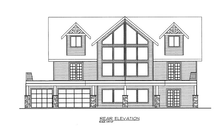 House Plan 85327 Rear Elevation
