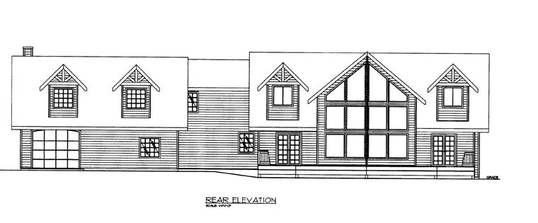 House Plan 85328 Rear Elevation