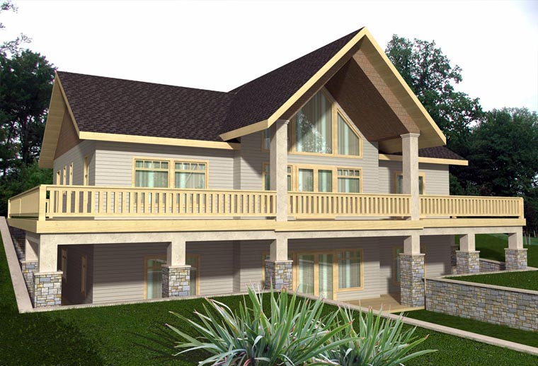 House Plan 85331 with 2 Beds, 3 Baths Elevation