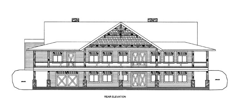 House Plan 85332 Rear Elevation