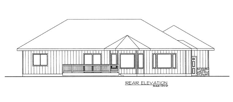 House Plan 85333 Rear Elevation