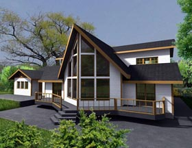 House Plan 85334 with 3 Beds, 3 Baths, 2 Car Garage Elevation