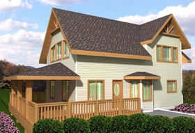 House Plan 85335 | Style Plan with 1152 Sq Ft, 1 Bedrooms, 2 Bathrooms Elevation