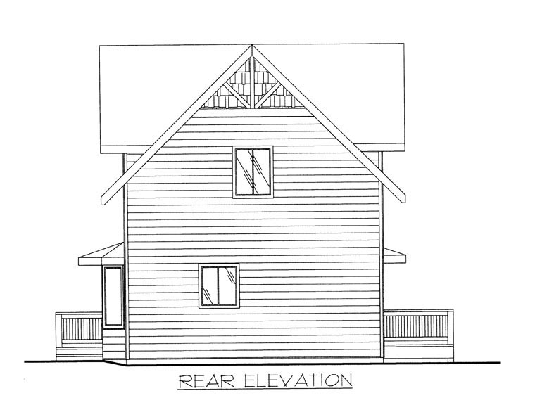 House Plan 85335 Rear Elevation