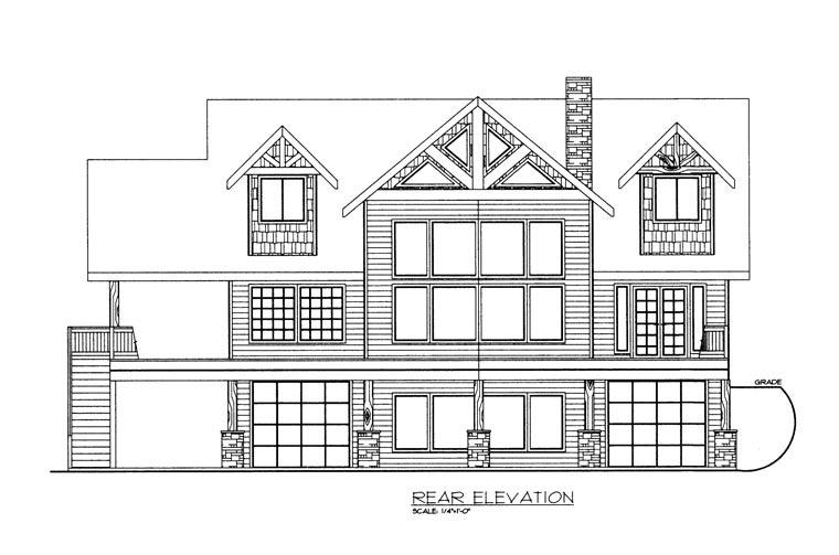 House Plan 85337 Rear Elevation