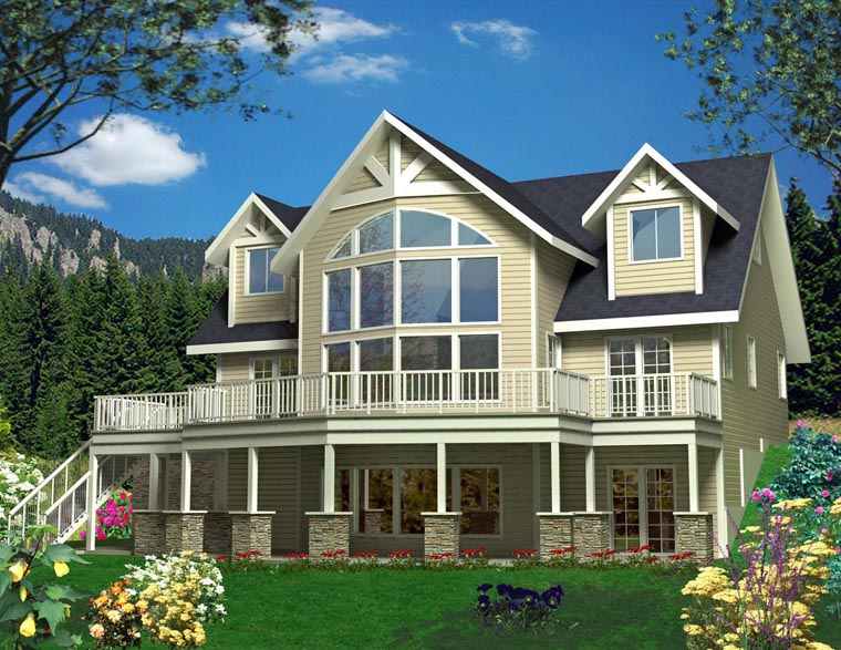House Plan 85339 | Style Plan with 2307 Sq Ft, 3 Bedrooms, 3 Bathrooms, 3 Car Garage Elevation