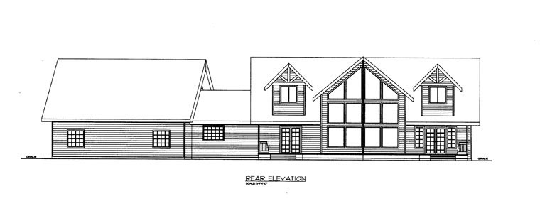 House Plan 85340 Rear Elevation